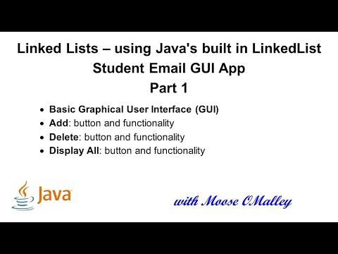 Java - LinkedLists - Students GUI - Add, Delete, Display