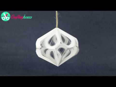 DIY Christmas Party Decorations | Paper 3D Diamond Crafts Tutorial