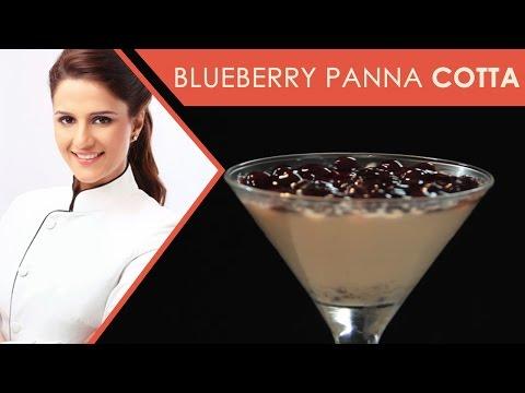 Blueberry Panna cotta