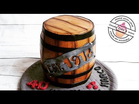 Fasstorte I Barrel Cake I Whiskyfasstorte I Bierfasstorte I Motivtorte Tutorial