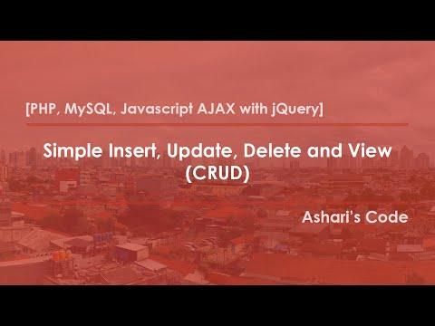 [PHP, MySQL, Javascript AJAX with jQuery] Insert, Update, Delete dan View Sederhana