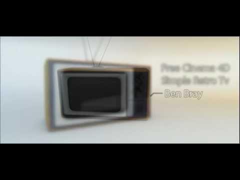 Free Cinema 4D Simple Retro Tv Model