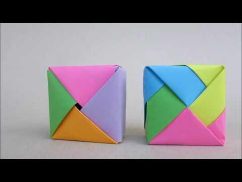 Modular Origami Box Tutorial Part 1 | Paper craft Idea | Cindy DIY