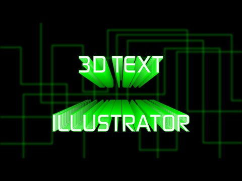 How To Make Classic 3D Text Effect In Adobe Illustrator CC | Knack Graphics