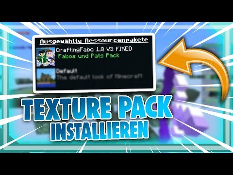 Minecraft Resource/TEXTURE PACKs installieren [1.8 - 1.12] | justtoin