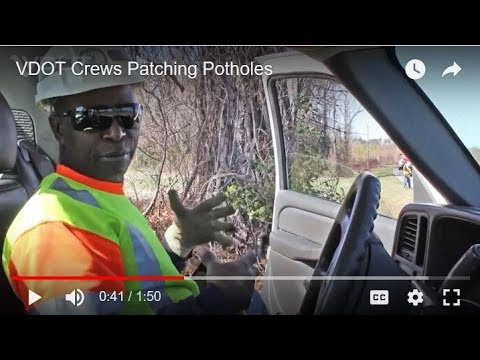 Watch Out For VDOT Crews Patching Potholes!