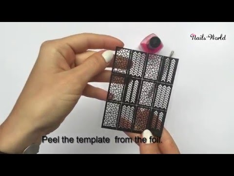 How to use nails template stickers?