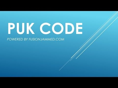 What is a PUK code? Easy answer video swap number