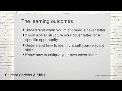 Introduction & Learning outcomes (Legal Cover Letters Part 1/21)
