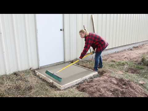 How to pour a 4' x 4' concrete slab with the GatorBar Rebar Kit