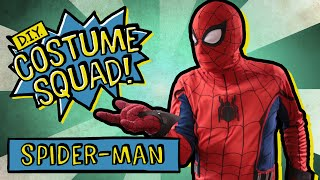 make your own spiderman homecoming suit diy costume squad
