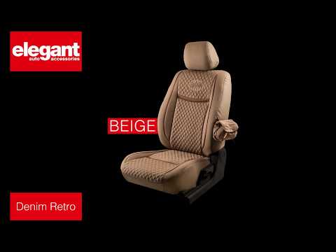 Denim Retro Car Seat Covers | Designer Seat Covers | Quality Fabric Seat Cover