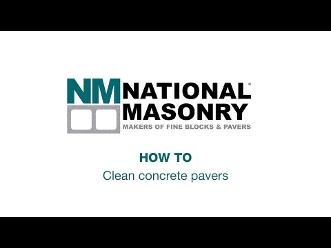 How To Clean Concrete Pavers