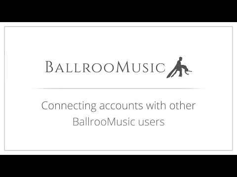 Connecting accounts with other BallrooMusic users