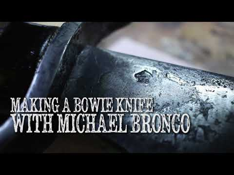 Short video on how I make a Bowie Knife