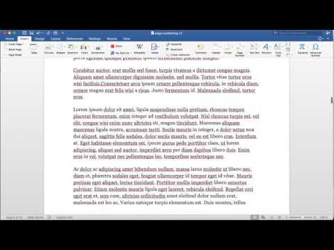 Change Page Numbering in Word on a Mac