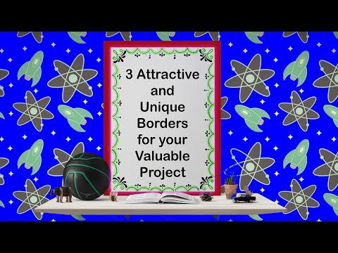How to decorate borders of project files || 3 attractive borders for project || Part  - 4