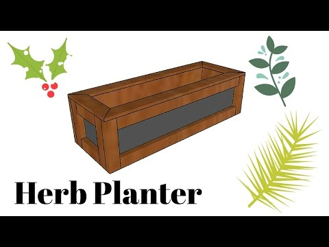 Herb Planter Plans