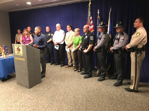 News Conf.:  Police, Fire Cracking Down on Illegal Fireworks