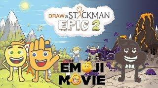 THE EMOJI MOVIE Draw a Stickman Epic 2 Gameplay - Gene and Hi-5 Save Poop - Amazing Emoji Adventure