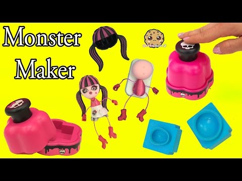 Monster High Maker Machine Create A Draculaura Mini Doll Craft Toy Playset - Cookieswirlc Video