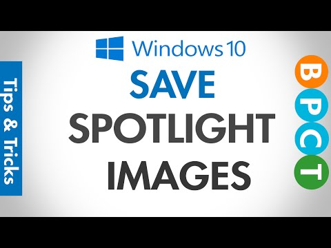 How to save/copy Windows 10 Spotlight Images