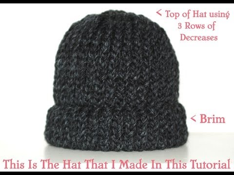How To Loom Knit & Cast Off A Chunky Beanie Hat  Pt.2