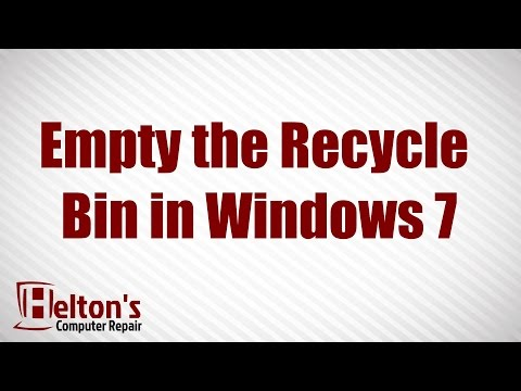 How to Empty the Recycle Bin in Windows 7