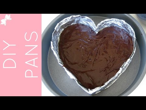 How To Make DIY Cake Pans (heart cake pan, cheesecake pan, mini cakes...) // Lindsay Ann Bakes