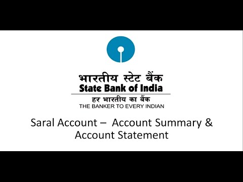 SBI Corporate Internet Banking Saral : Account Summary & Account Statement