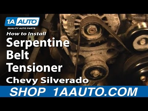 How To Install Replace Serpentine Belt Tensioner Chevy Silverado GMC Sierra 99-06 1AAuto.com