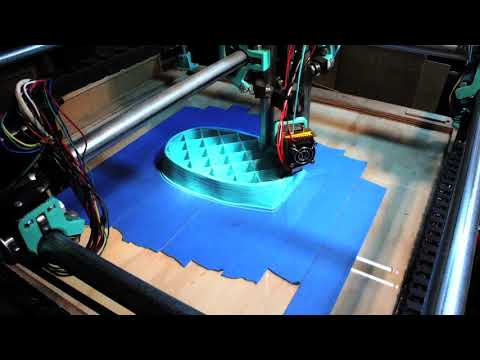 MPCNC 14 Hour Large 3D Print Time Lapse (Human Scale Face)