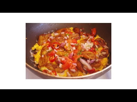 HOW TO MAKE PLANTAIN AND EGG FRITTATA WITH BANANA|  NIGERIAN FOOD| breakfast