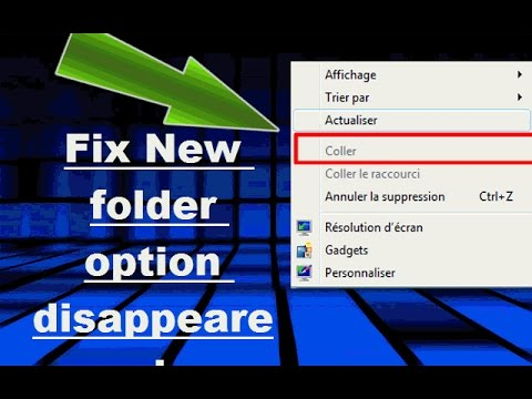 How to Fix Unable to Create New Folder in Desktop in Windows 10/8/7/vista