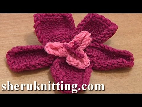 Free Knitting Flower Patterns Tutorial 18 Knitted Two-Layer Flower