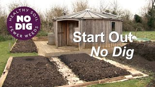 Start Out No Dig,  one method with cardboard and compost