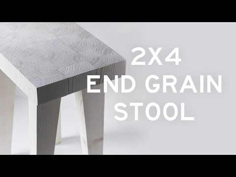 DIY 2x4 End Grain Stool