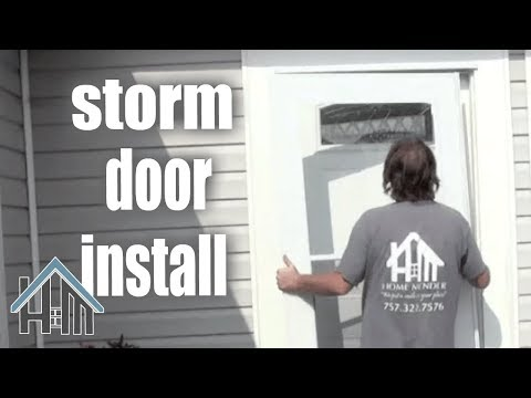 How to install a storm door by yourself, Easy. Home Mender