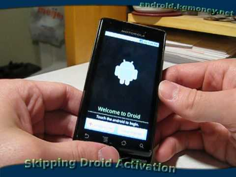 Skipping Motorola Droid Activation  ---  No Contract Cell Phones