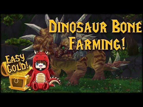 Easy Gold! Dinosaur Bone Farming (Bone-White Raptor)