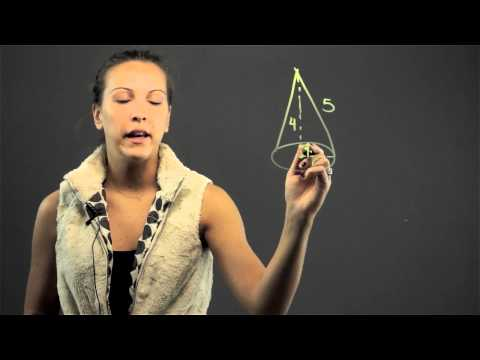 Figuring Radius of a Cone From Slant Height : Math Lessons & Tips