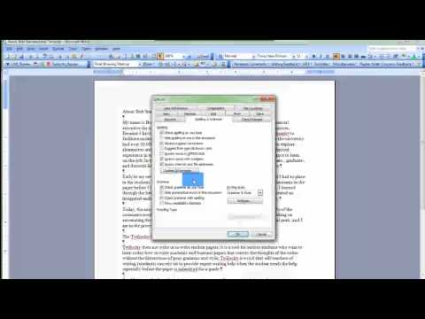 Word 2003 Spelling & Grammar set up with Custom Dictionary
