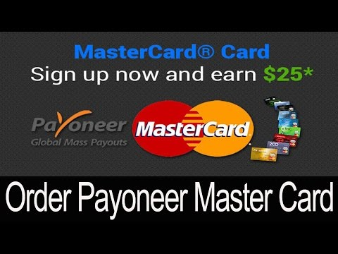 How to Order Payoneer  Master Card