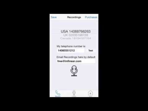 Call Recording Pro iPhone App Demo Video