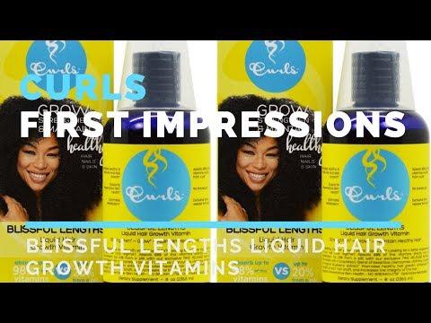 Curls Blissful Lengths Liquid Hair Growth Vitamin | FIRST IMPRESSION