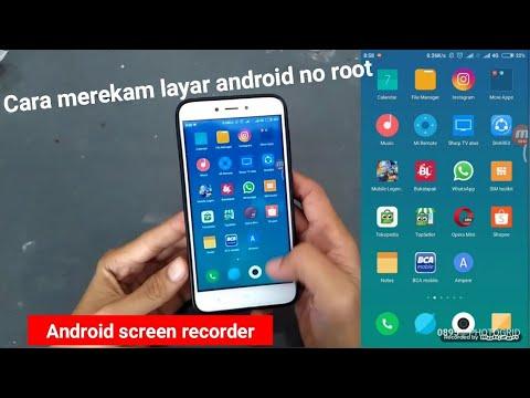 cara merekam layar android tanpa root screen recorder