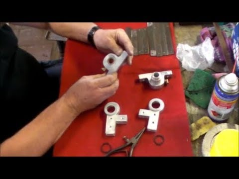 Building the Gingery Milling Machine 46, machining the crank release levers