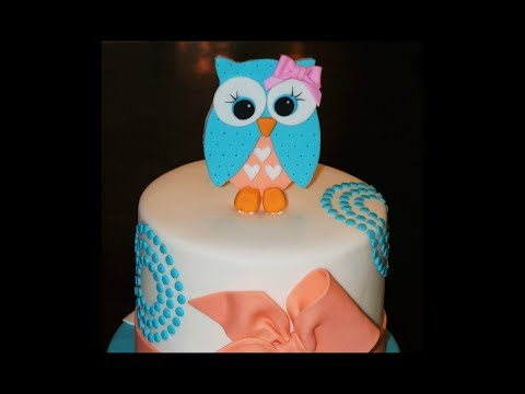 Cake decorating tutorials | how to make an owl cake topper | Sugarella Sweets
