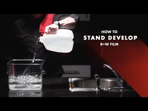 How to stand develop B+W film