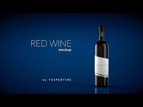 Red Wine Bottle Mockup by Vespertine